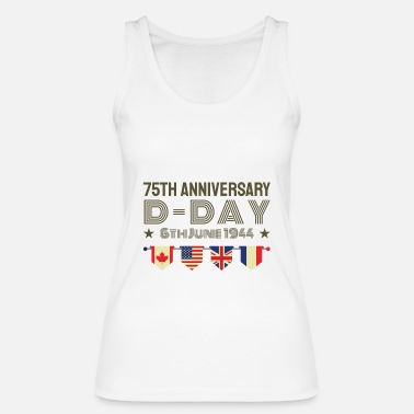 World 75 years D Day anniversary WWII World War II alliance - Women's Organic Tank Top