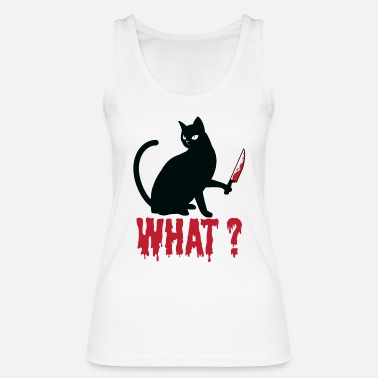 What Black Cat What? Black cat picture gift - Women's Organic Tank Top