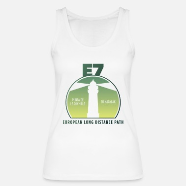 European Long Distance Hiking Trail E7 Punta de la orchilla to Nagylak - Europe - Women's Organic Tank Top