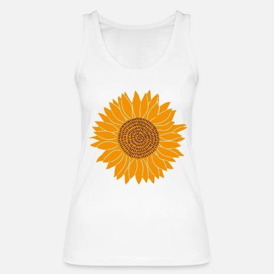 Sunflower Tank Tops - sunflower - Women's Organic Tank Top white