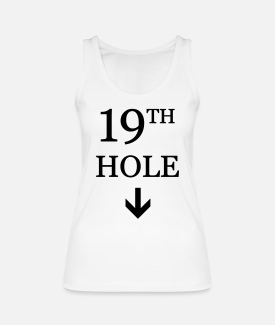 cool Tank Tops - Golf: 19th hole - Women's Organic Tank Top white