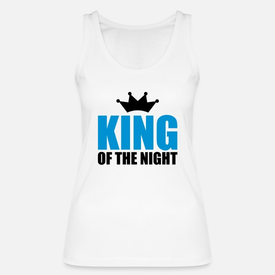 Disko Tank topit - KING OF THE NIGHT - Naisten tanktoppi valkoinen