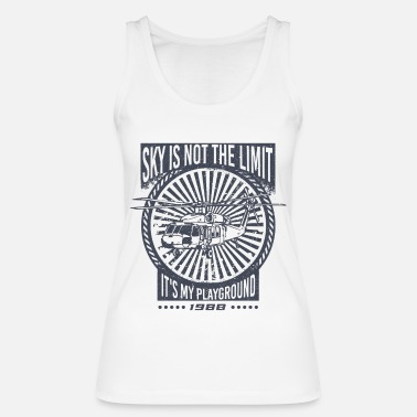 Black Hawk De hemel is niet de limiet Black Hawk helikopter - Vrouwen bio tank top
