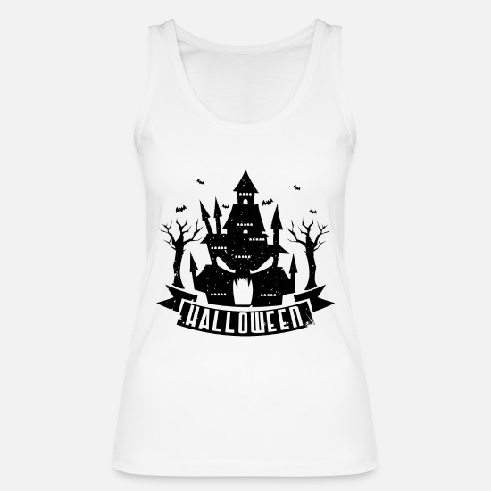 Ghost Tank Tops - Halloween haunted house - Women's Organic Tank Top white