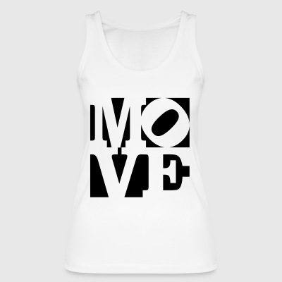 move Homage to Robert Indiana move black outside - Women's Organic Tank Top by Stanley & Stella