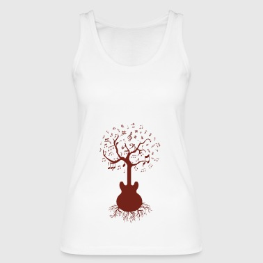 Guitar & Tree Art, Guitar and Tree - Women's Organic Tank Top by Stanley & Stella