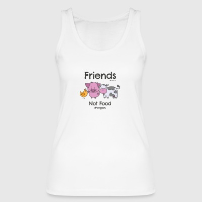 Friends Not Food TShirt for Vegans and Vegetarians - Women's Organic Tank Top by Stanley & Stella