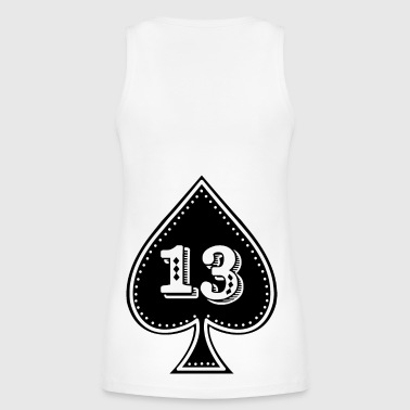 rocker design Ace of Spades with number 13 - Women's Organic Tank Top by Stanley & Stella