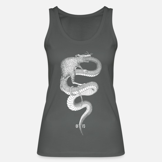 New World Order Tank Tops - evolution - Women's Organic Tank Top charcoal