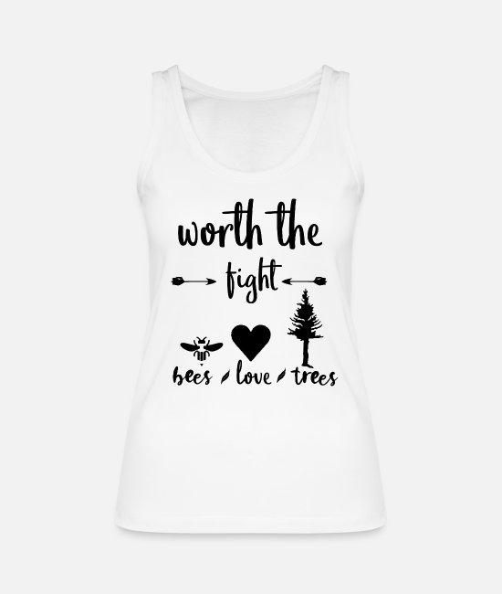 Nature Tank Tops - Conservation Bees Trees Love Shirt Gift Idea - Women's Organic Tank Top white