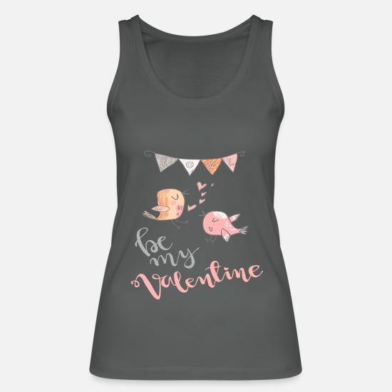 Valentine's Day Tank Tops - Be My Valentine - Women's Organic Tank Top charcoal