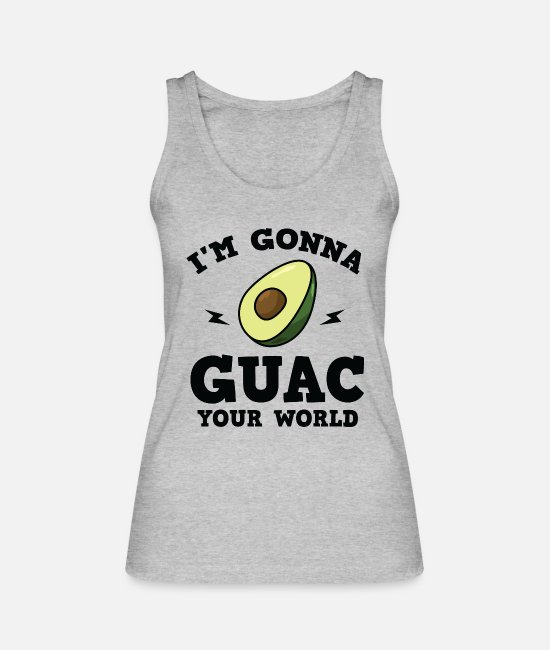 Central America Tank Tops - Cool I'm gonna GUAC your world T-Shirt - Women's Organic Tank Top heather grey
