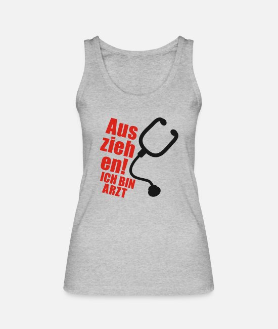 Design Tank Tops - Off! I'm a doctor - Women's Organic Tank Top heather grey