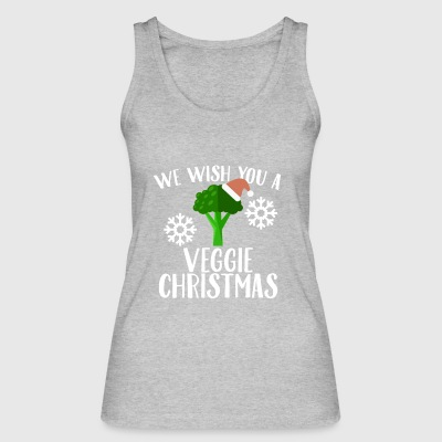 We Wish You A Veggie Christmas Broccoli Santa Hat - Women's Organic Tank Top by Stanley & Stella