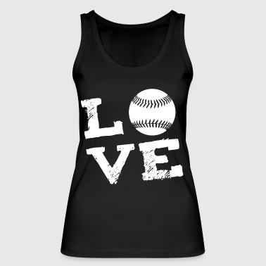 LOVE - Softball - Women's Organic Tank Top by Stanley & Stella