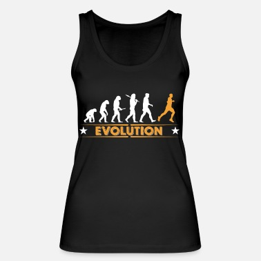 Evolution Running Evolution - orange/weiss - Women's Organic Tank Top