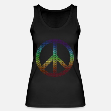 Peace Sign Peace Sign Peace Demo Flower Power Letter - Women's Organic Tank Top by Stanley & Stella