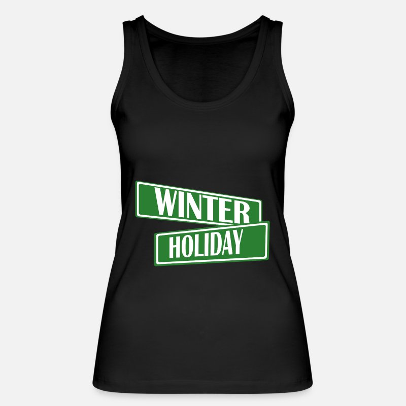 Jul Tank Tops - vinter - Økologisk tanktop dame sort