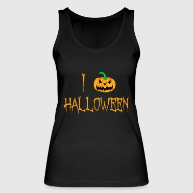 I love Halloween T-Shirt with scary pumpkin lantern - Women's Organic Tank Top by Stanley & Stella