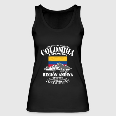 Columbia - Flag & Mountains - Women's Organic Tank Top by Stanley & Stella
