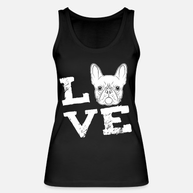 Bulldog LOVE - French Bulldog - French Bulldog - Women's Organic Tank Top by Stanley & Stella