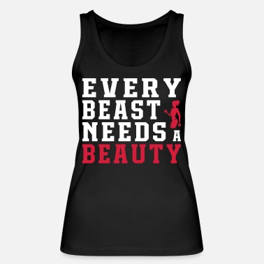 Beast Every Beast Needs A Beauty - Women's Organic Tank Top by Stanley & Stella