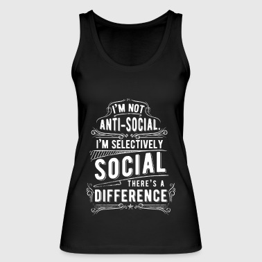 antisocial - Women's Organic Tank Top by Stanley & Stella