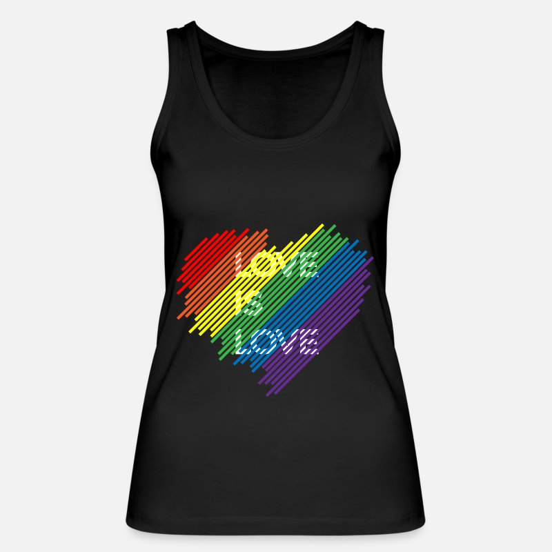 Love Tank Tops - LGBT - Gay Pride Shirt Love is love - Women's Organic Tank Top black