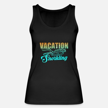 Under Water Snorkeling diving under water - Women's Organic Tank Top by Stanley & Stella