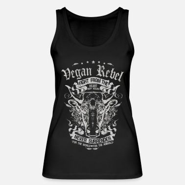 Vegan Vegan Rebel White Edition - Frauen Bio Tank Top von Stanley & Stella