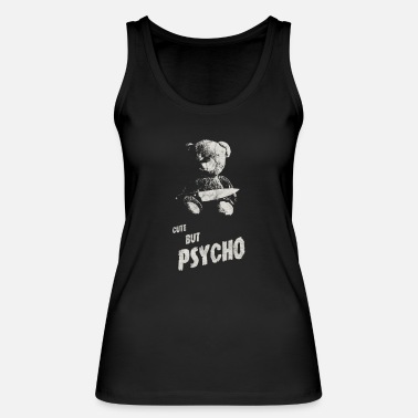 Devil Occult Gothic Grunge Cute But Psycho Satan Black - Women's Organic Tank Top