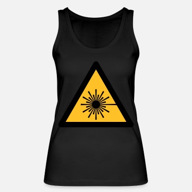 Uv Hazard Symbol - Laser Light (2-color) - Women's Organic Tank Top