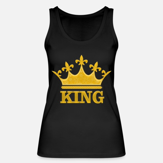 King Queen Tank Tops - Golden King - Frauen Bio Tanktop Schwarz