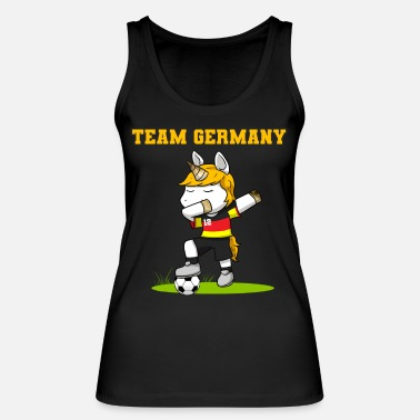 Unicorn Soccer Footballer Soccer Player - Women's Organic Tank Top