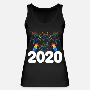 Bright Colorful Fireworks Happy New Year 2020 January - Women's Organic Tank Top