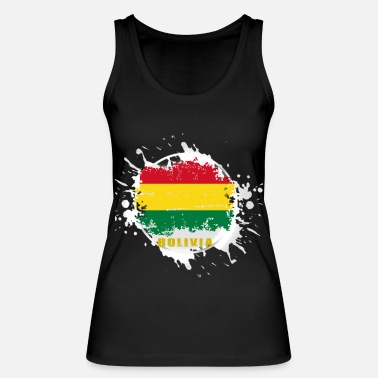 Area bolivia flag with blob - Women's Organic Tank Top