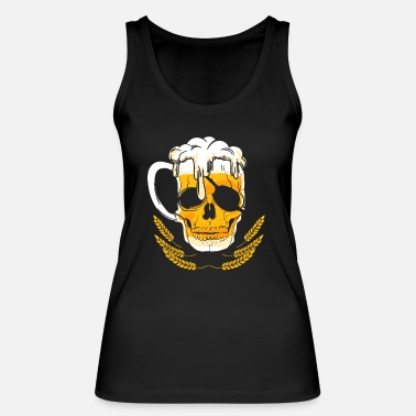 Beer Beer glass skull beer drinker pirate - Women's Organic Tank Top