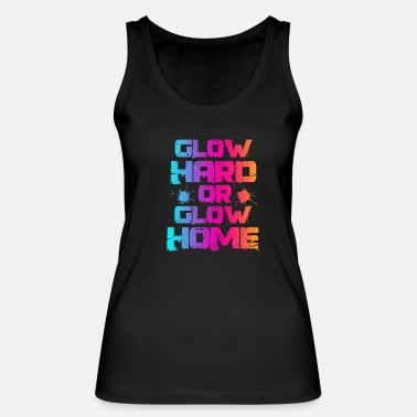 Neon Glow party neon lights color gift - Women's Organic Tank Top