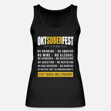 Oktoberfest wheat beer Wiesn sober - Women's Organic Tank Top