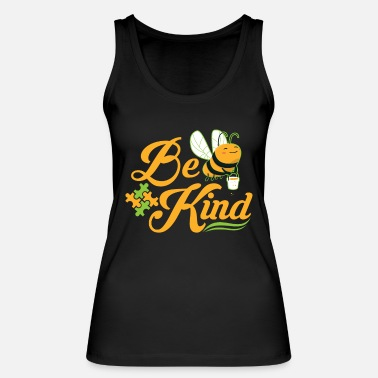 Down Bee Kind Autism Awareness Autism Superhero - Women's Organic Tank Top