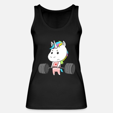 Weightlifting Unicorn Training Workout Strength training for women - Women's Organic Tank Top
