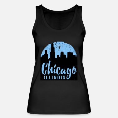 Windy City Chicago Amerika USA Windy City Illinois Gift - Ekologisk tanktopp dam