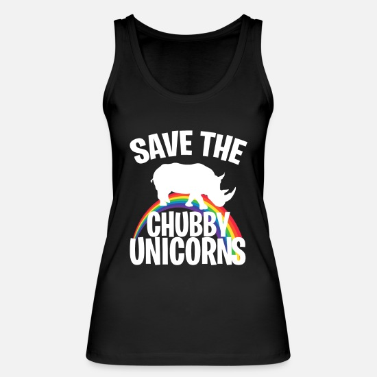 Rainbow Tank Tops - SAVE CHUBBY UNICORNS - Women's Organic Tank Top black
