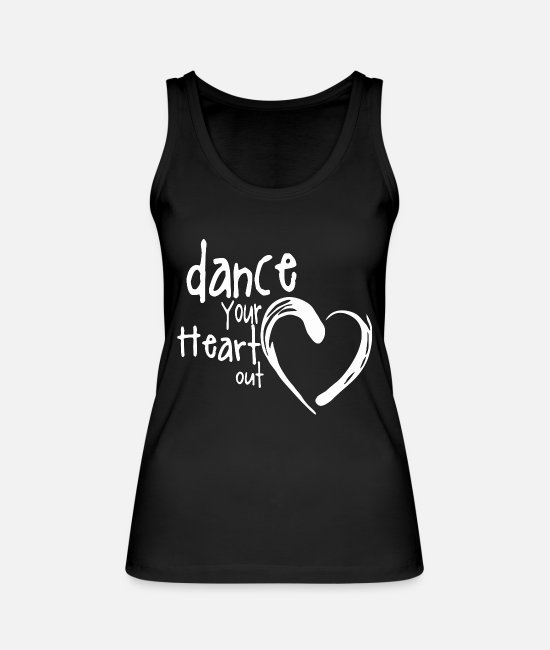 Festival Tank Tops - Great Heart Dance W Dance Shirt Gift Tee - Women's Organic Tank Top black