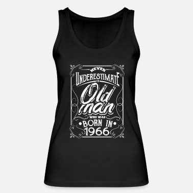 Bursdag 1966 year of birth born in present from Bursdag grandpa - Women's Organic Tank Top