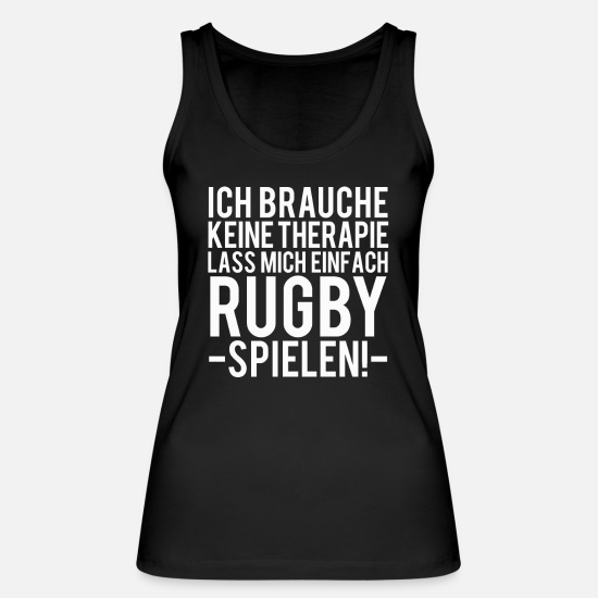 Rugby Tank Tops - rugby - Women's Organic Tank Top black