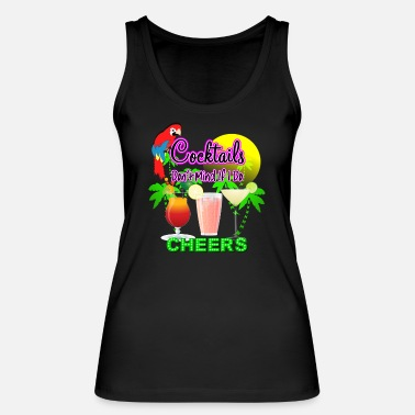 Cute Tropical Cocktail Bar Fun Graphic - Women's Organic Tank Top