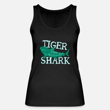 Christmas Present Fish Tiger Shark Danger Diver Gift - Women's Organic Tank Top