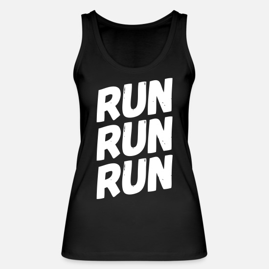 Body Builder Tank Tops - run run run - Women's Organic Tank Top black