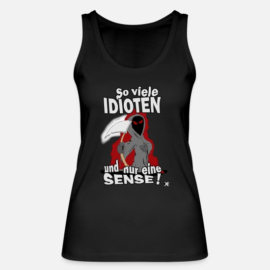 So Tank Tops - So many idiots !! - Women's Organic Tank Top black